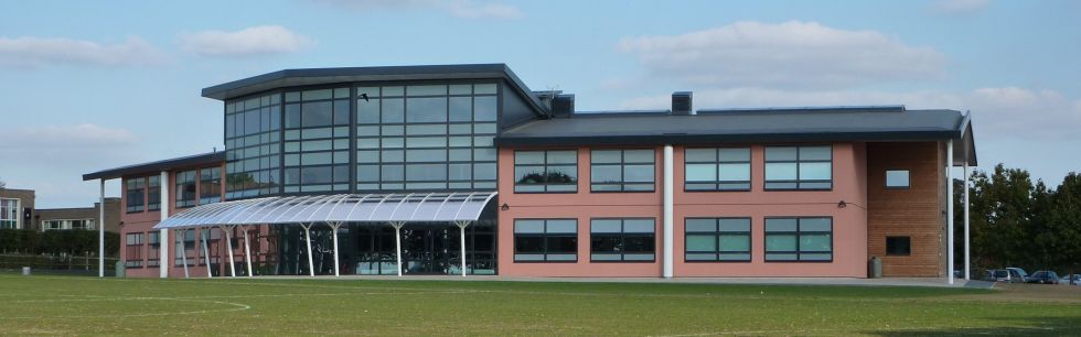 Reepham College -  West elevation - comprehensive 'Evalon Solar' Photo Voltaic  installation as part of Government sponsored Reepham Carbon Challenge programme