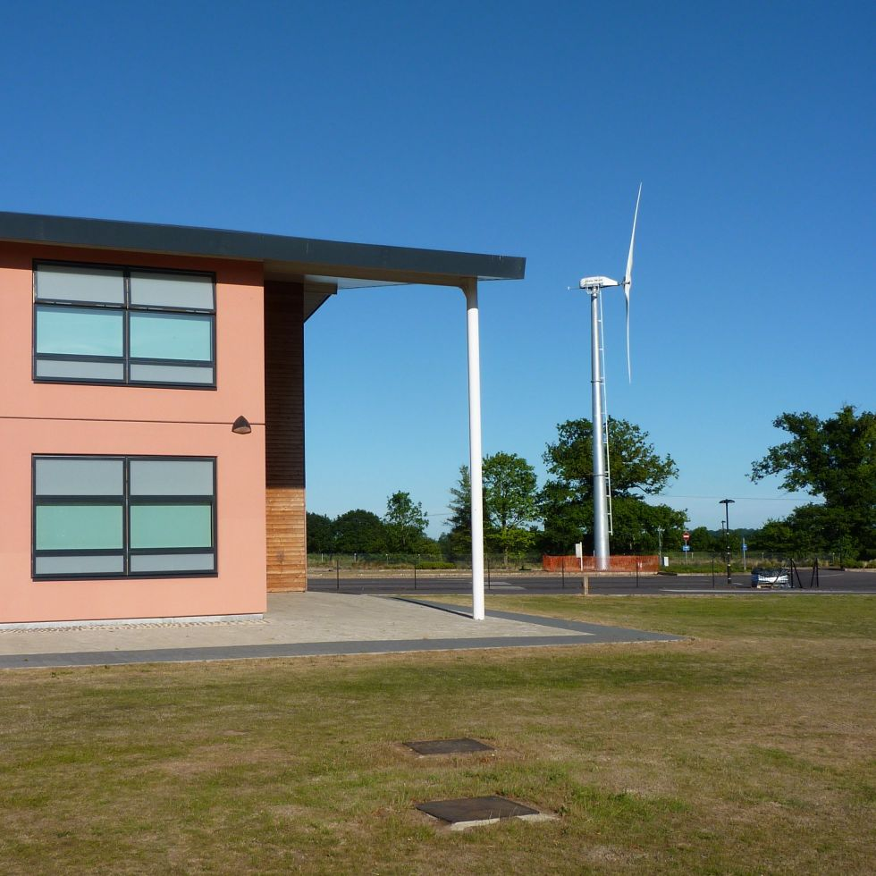 Wind turbine at Reepham College