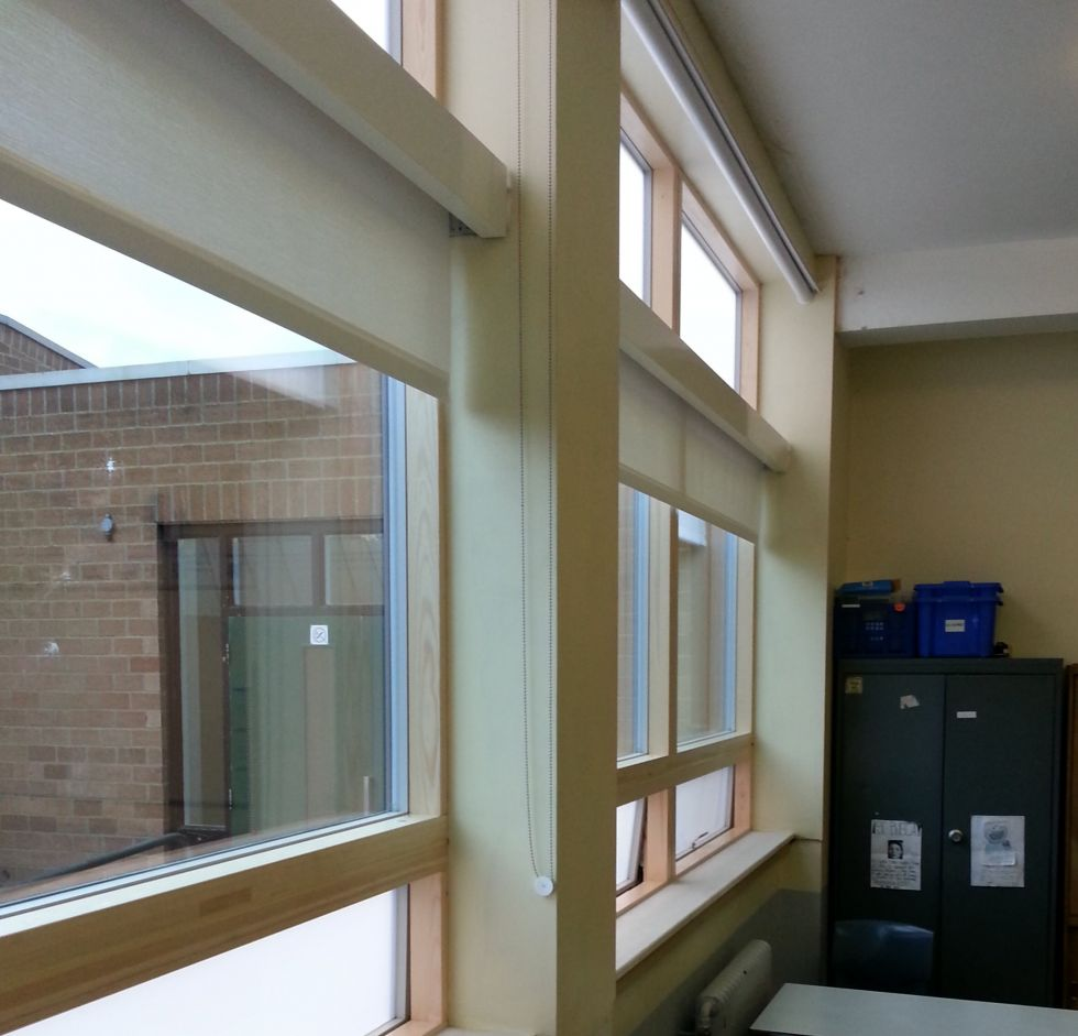 Phase 1 works - Automated windows and blinds fitted to 1959 building summer 2014